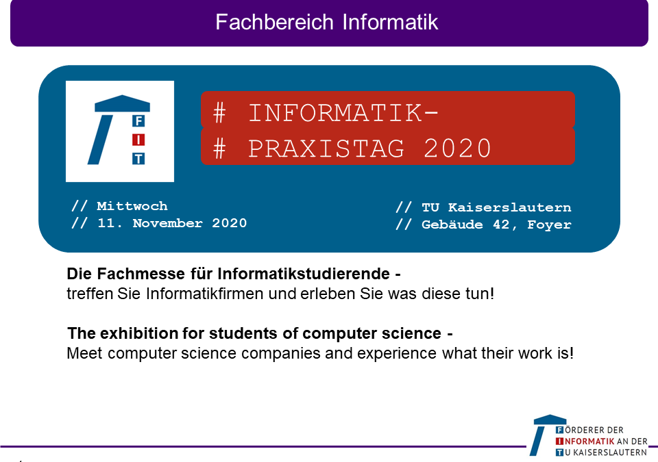 Save the date: Informatik-Praxistag 2020